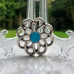 Jewelry - 🌺 STERLING SILVER AND TURQUOISE BROOCH